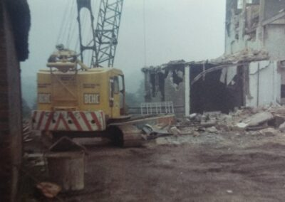 Coultershaw Mill demolition - 1973